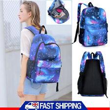 Galaxy School Bag Boys Girls Student Luminous School Canvas Backpack Cool Unisex