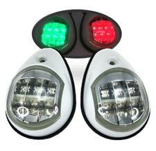 Marine Boat LED Navigation Light Green Starboard Red Port White Surface Side Mt.