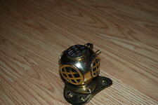 """3.5"""" Brass Navy Deep Sea Divers Helmet Paperweight or Candle Snuffer"""