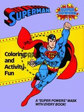 Vintage Reprint - 1984 - Super Powers Coloring & Activity Fun Covers And Masks