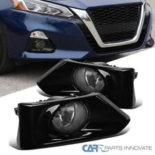 For 19-20 Nissan Altima Front Fog Bumper Lights Pair+Switch+Glossy Black Bezels
