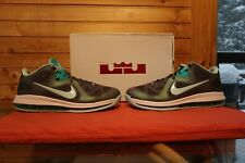 Nike Lebron 9 Low Easter Dark grey Mint Candy Cool Grey New Green Size 12 (3767)