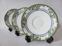 Antique Aynsley Saucer Trio, Hand Finished, 1920s, Vintage Tea Party, Art Deco
