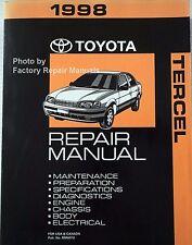 1998 Toyota Tercel Factory Service Manual Original Shop Repair Book