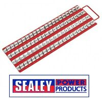 "Sealey Socket Rail Tray Red 1/4"", 3/8"" & 1/2""Sq Drive AK271"