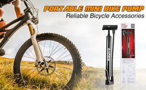 Mini Prtable Pump Ball Cycling Bike Bicycle Presta Schrader MTB + Puncture Kit
