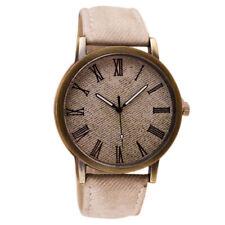 Classic Mens Womens Quartz Watches Leather Strap Analog Dial Dress Wrist Watch