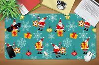 3D Weihnachtsmann H942 Christmas Rutschfest Schreibtisch Matte Tastatur Pad Amy