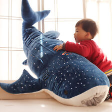 New Style Blue Shark Plush Toys Big Fish Cloth doll Whale Stuffed Animals 100 cm