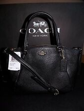 NWT Coach Pebble Leather Mini Kelsey Black Leather Crossbody Purse F57563  $250