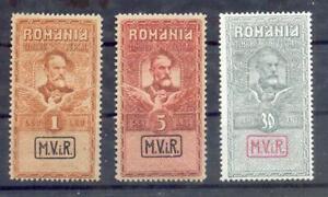 Romania Steuermarken VIII / X Impeccabile MH (13054