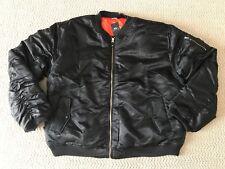 NWT Men's MJC Apparel Classic Black Zip Bomber Flight Jacket ALL BIG SIZES
