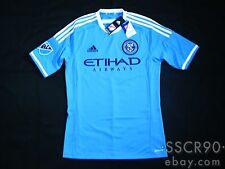 adidas New York City FC 2015 Primary Blue Soccer Jersey Football Shirt A99080
