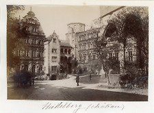 Allemagne, Heidelberg (Château) Vintage albumen print. Vintage Germany. Tirage