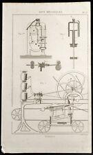1852 - Engraving Arts Machine Heads Filatures (8) .Science, Industry