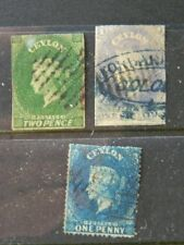 1753 CEYLON SC 4, 11, 17 (SG 3, 10, 19A) USED   MIXED CONDITION        CAT $300+