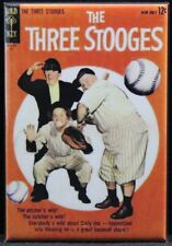 "The Three Stooges Gold Key Comic Book Cover 2"" X 3"" Fridge Magnet. Baseball"