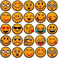 SMILEY EMOJI PATCH IRON ON PATCHES BADGE EMBROIDERED SEW FACE FABRIC APPLIQUE