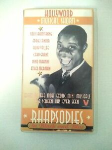 HOLLYWOOD MUSICAL SHORTS : RHAPSODIES IN BLACK AND BLUE VHS Louis Armstrong