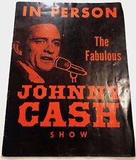 More details for johnny cash show uk tour programme - signed by johnny cash