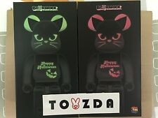 Medicom GID Red & Green Halloween 400% Bearbrick Be@rbrick 2pc