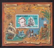 DJIBOUTI 1980 USED S/S #519a, JAMES COOK BICENTENARY !!