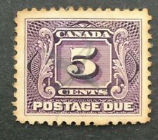 Canada SGD6 Postage Due, used. 5c dull violet, 1906-28 P.12