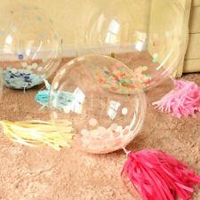 1PCS 12'' PVC Transparent Bobo Balloon LED Light  Wedding Birthday Party Decor