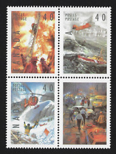 Canada Stamps - Block of 4 - 1991, Dangerous Occupations #1333a - MNH