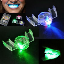 LED Glitter Teeth Lamp Mouth Whitening Tooth Braces Halloween Party DIY Toy
