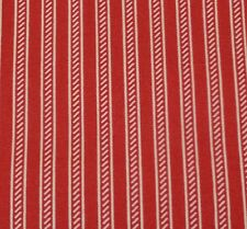 "1 yd 22"" Collection of Edelin Wille Marcus Brothers Red Off-White Stripe"