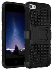 Black Heavy Duty Dual Layer Kickstand Hybrid Rugged Case for iPod Touch 6 &5 Gen