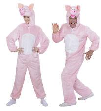 Plush Pig Fancy Dress Costume Farm Animal Book Week Outfit Adult Unisex M/L