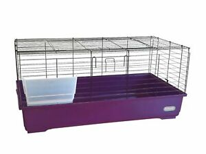 Large Purple Indoor Rabbit 100cm Cage Bunny Guinea Pig Small Pet Animals Hutch