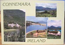 Irish PC CONNEMARA Multiview Kylemore Pony Cottage Ireland John Hinde 2/669