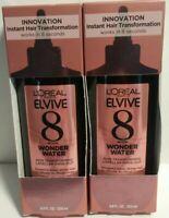 2 Pack L'Oreal Elvive 8 Second Wonder Water Lamellar Hair Treatment 6.8 Oz New