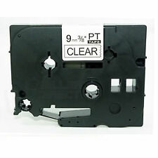 Compatible Label Tape TZ121 TZ-121 9mm x 8m for Brother P-Touch Black On Clear