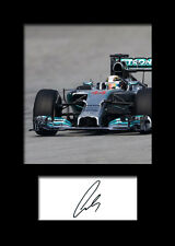 LEWIS HAMILTON #2 Signed Photo Print A5 Mounted Photo Print - FREE DELIVERY