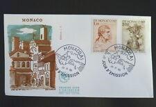 MONACO PREMIER JOUR FDC YVERT  803/04      LEONARD DE VINCI     1,15+3F     1969