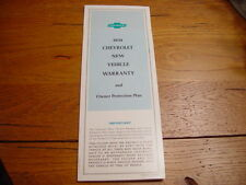 1970 Camaro SS or Corvette Owner Protection Plan 1st Edition Never Stamped Blank