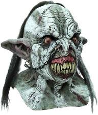 Homme Orc Masque & Cou Effrayant Halloween Deluxe le seigneur des anneaux overhead Latex NEUF