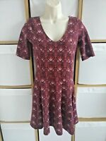 Holister Jersey Tunic Dress / Long Top? V Neck Casual Short Sleeve Size Medium