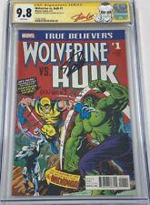 TB Wolverine vs Hulk #1 Hulk #181 Reprint Signed Stan Lee & Len Wein CGC 9.8 SS