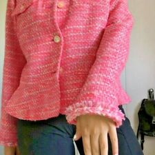 J Crew~Tweed~Hot Pink~Lady~Blazer~Suit~Size 14~ Very Classy!