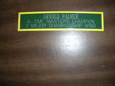 ARNOLD PALMER NAMEPLATE FOR SIGNED BALL DISPLAY/PHOTO DISPLAY