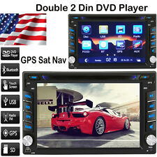 "6.2"" 2 DIN Car Stereo CD DVD Player Bluetooth Radio iPod MP3 TV GPS Navigation"