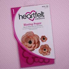 Heartfelt Creations Cut&Emboss Dies By Spellbinders ~ Blazing Poppy HCD1 764 NIP