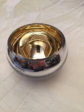 Exklusiver Fink Colore Teelichthalter in silber 115079 Deko Schale silber/gold