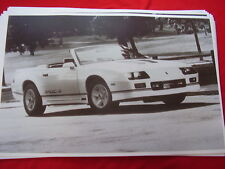 1988 CHEVROLET CAMARO IROC Z CONVERTIBLE  11 X 17  PHOTO  PICTURE