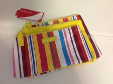 Brand New - YELLOW & STRIPPED MULTI COLOURED REVLON Make-up Bags - Pack of 3